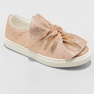 NEW girl sneakers slip on shoes Mallory rose gold